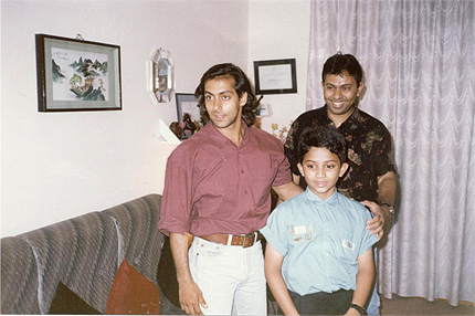 Salman , dad and me.